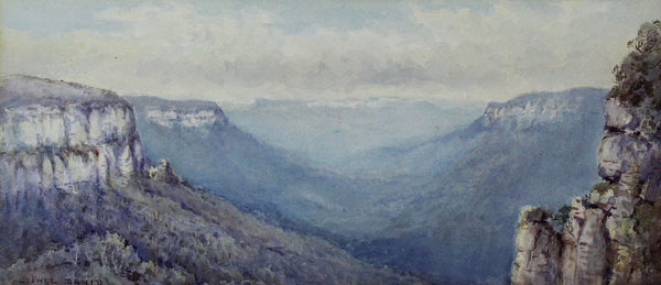 Lionel David - The Blue Gum Mountains, Australia, Early 20th Century Watercolour