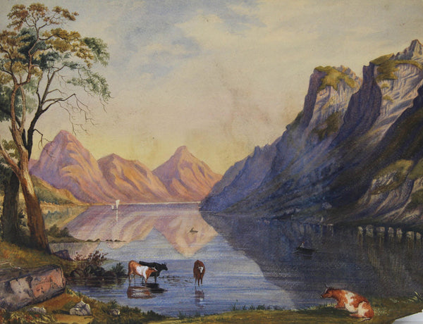 After George Shalders - Scottish Highlands, Original 19th Century Watercolour Painting