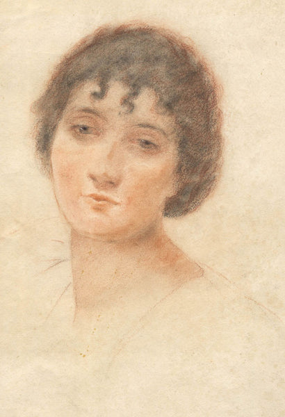 After John Seymour Lucas - Portrait of a Woman, 1887 Original Pastel
