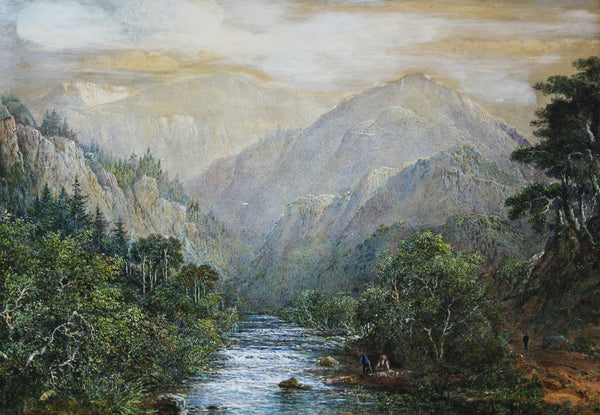 Charles Woolnoth - Highland Path, 19th Century Original Watercolour Painting