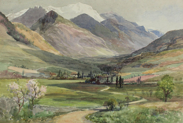 Arthur Netherwood - Spring Time, Jura Mountains, 19th Century Watercolour