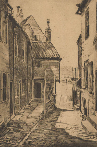 Preston Cribb - The Gault, Whitby, Early 20th Century Lithograph