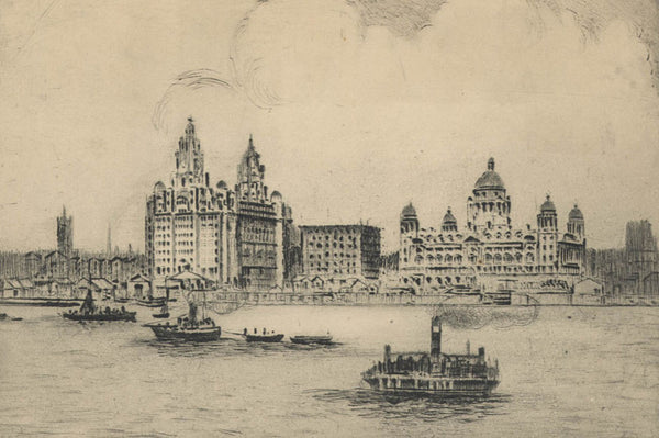 The Landing Stage - Original 19th Century Etching