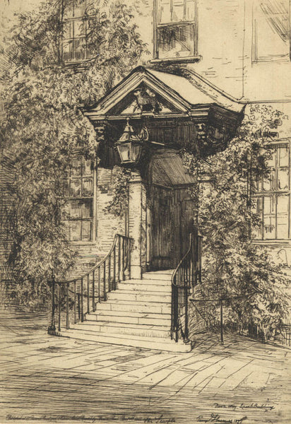 The Temple - Percy Thomas (1846-1922), Original 1897 Etching