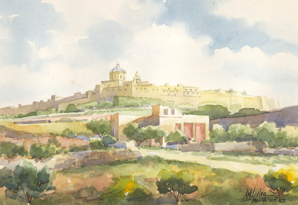 Aldo M. Galea - Malta, 1985 Watercolour
