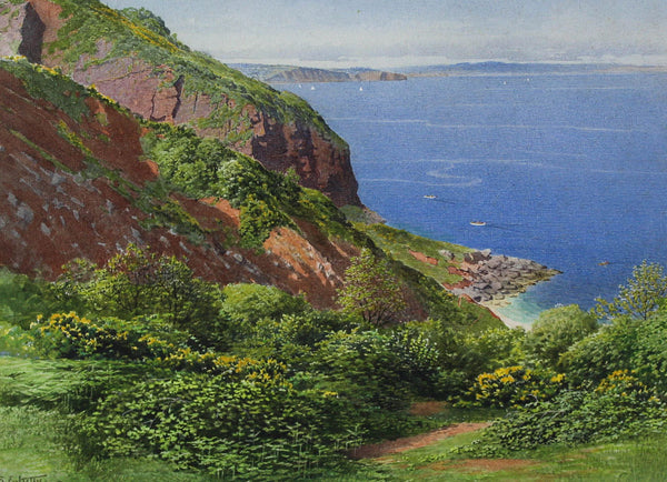 Samuel Kelly (1862-1935) - Devon Red Cliffs, Early 20th Century Watercolour