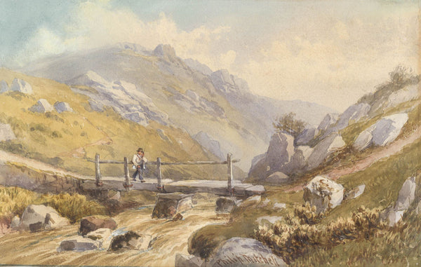 Philip Mitchell - Dartmoor, 19th Century Original Watercolour Painting