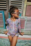 Girls Posy Long Sleeve One Piece