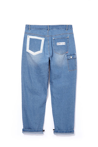 Bold Line Denim Pants