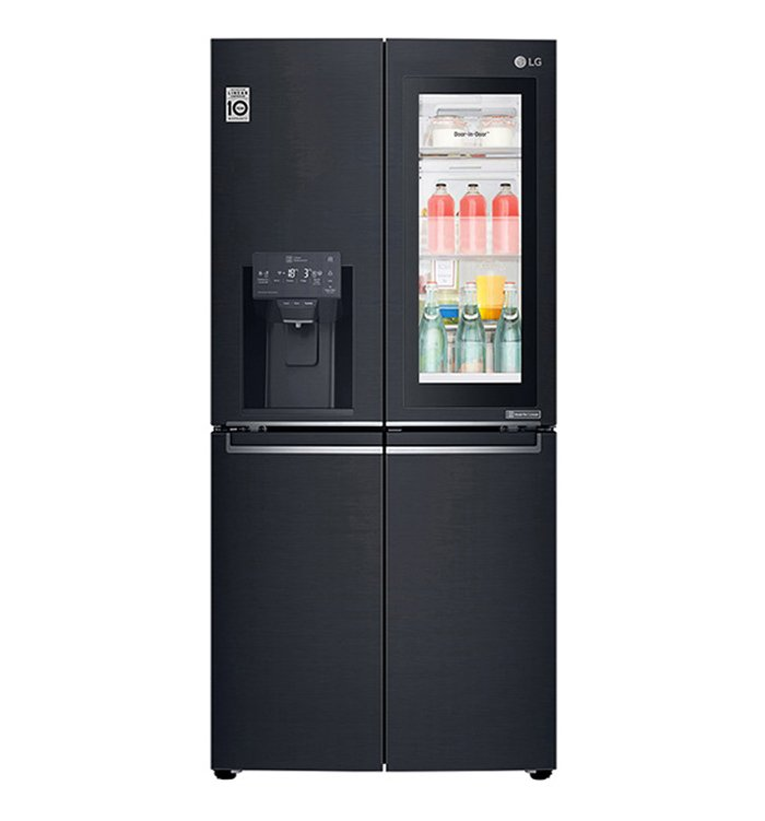 LG 570L Slim French Door Fridge with InstaView Door-in-Door GF-V570MBL