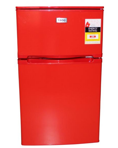 TECO 84L Two Door Upright Bar Fridge (Red) TBF84RMTA