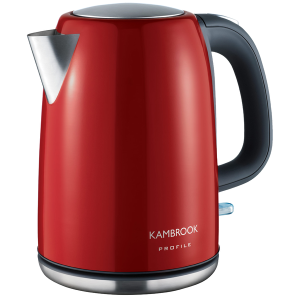Kambrook Profile 1.7L BPA Free Stainless Steel Kettle (Red) KSK220RED
