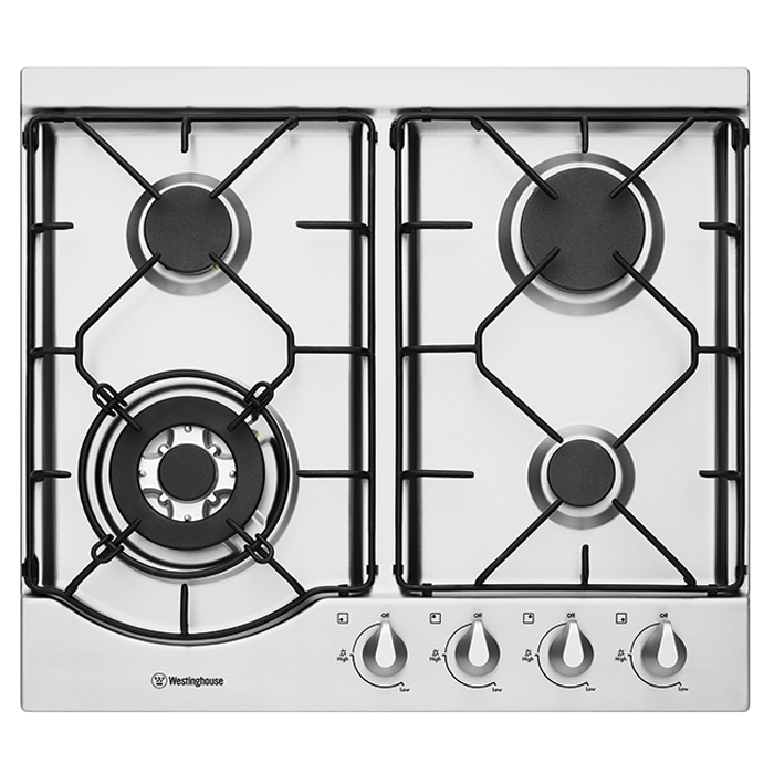 Westinghouse 60cm Gas Cooktop (Stainless Steel) WHG644SA