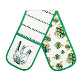 Screen printed double oven glove (Fennel and Artichoke).