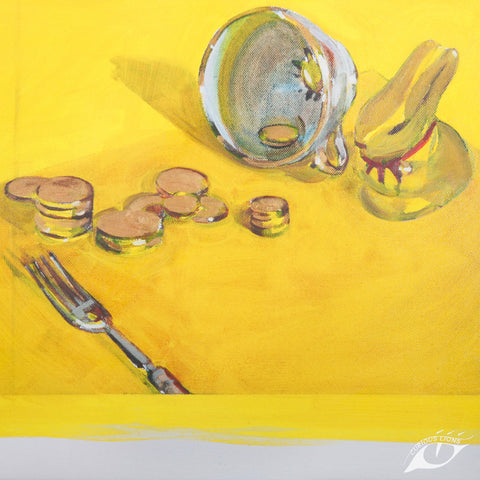 Gold Digger 29cm x 39cm x 3.5cm giclee print on stretched canvas.