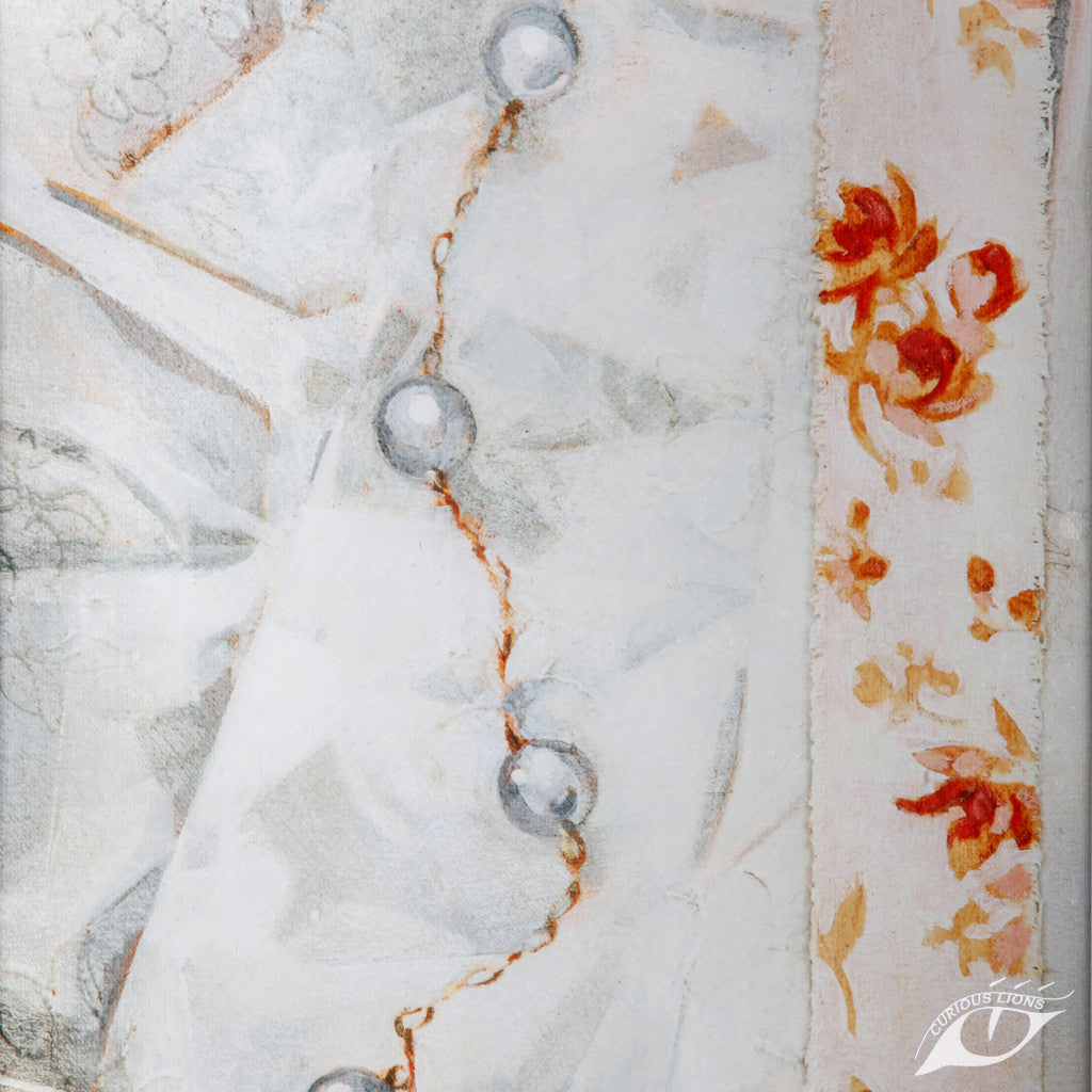 Pearls (3) 25cm x 30cm x 3.5cm giclee print on stretched canvas.