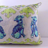Foo dog cushion with removable cover