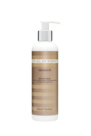 Natural 10 Self Tan Lotion (Medium - Untinted) - For All My Eternity