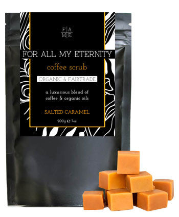 Organic Coffee Scrub - Salted Caramel - For All My Eternity