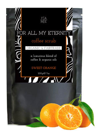 Organic Coffee Scrub - Sweet Orange - For All My Eternity