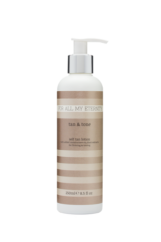 Tan & Tone Firming Self Tan Lotion (Medium - Untinted) - For All My Eternity
