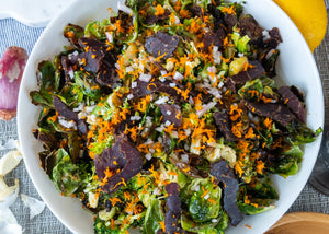 Roasted Brussels with Orange Biltong Vinaigrette