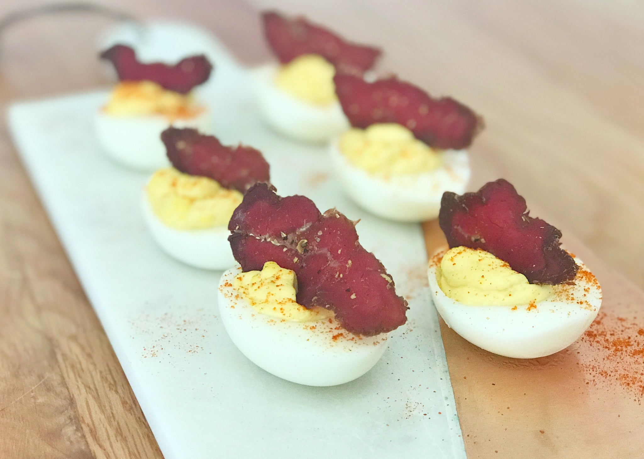Biltong Deviled Eggs Recipe