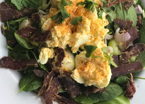 Everything But The Kitchen Sink Egg Salad with Biltong