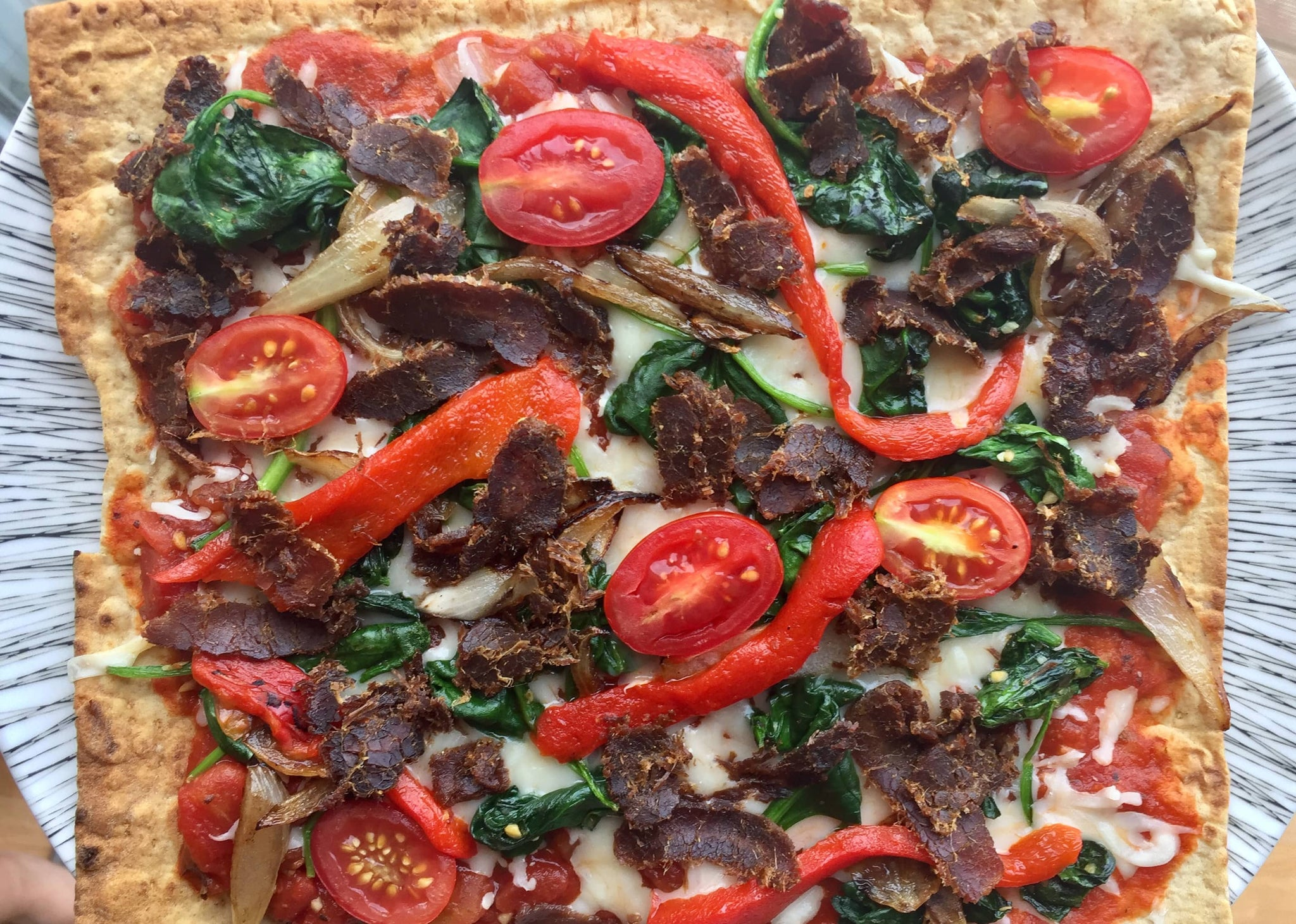 Spicy Biltong, High Protein Pizza Recipe