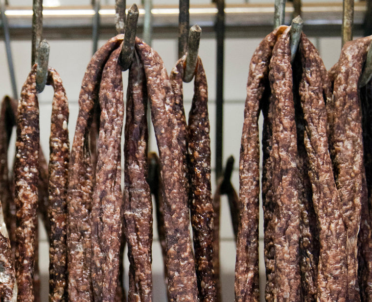 droewors beef sticks hanging by ayoba-yo