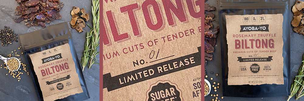 rosemary truffle premium biltong. limited release sign up