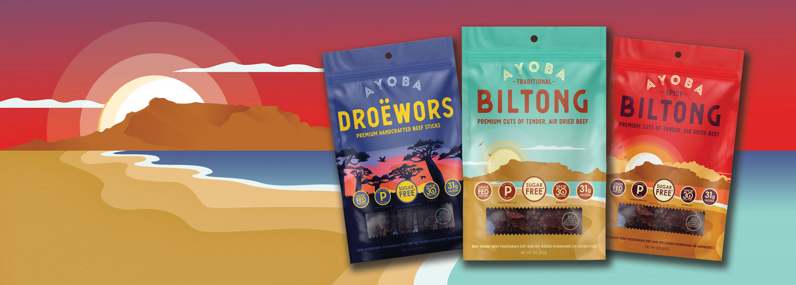ayoba biltong droewors rebrand blog post with south africa scene