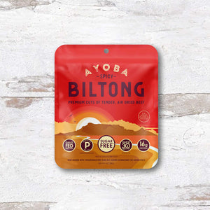 ayoba spicy biltong grass fed beef snack on-the-go convenient package