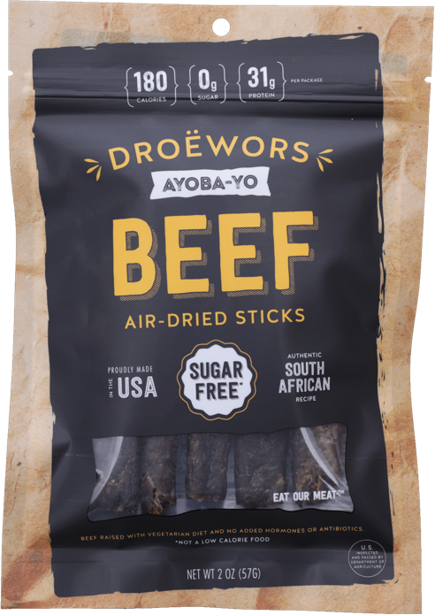 Droewors South African Beef Air Dried Beef Sticks