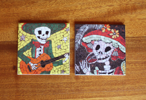 Day of the Dead Coaster Set - Alberto and Lucia