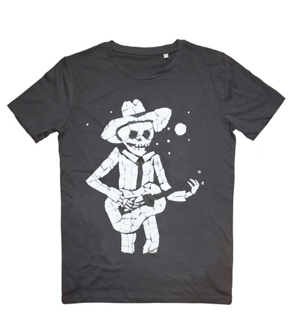 Organic T-Shirt - Juan playing guitar