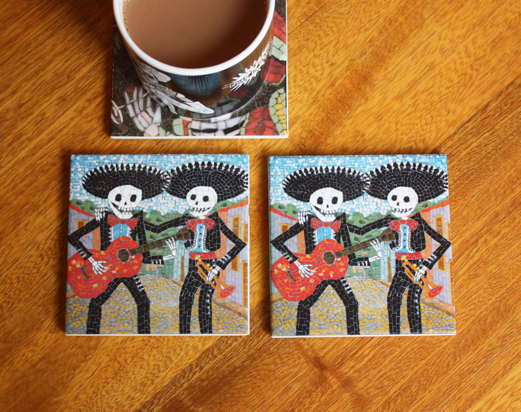 Day of the Dead Coaster Set - Mariachi Band