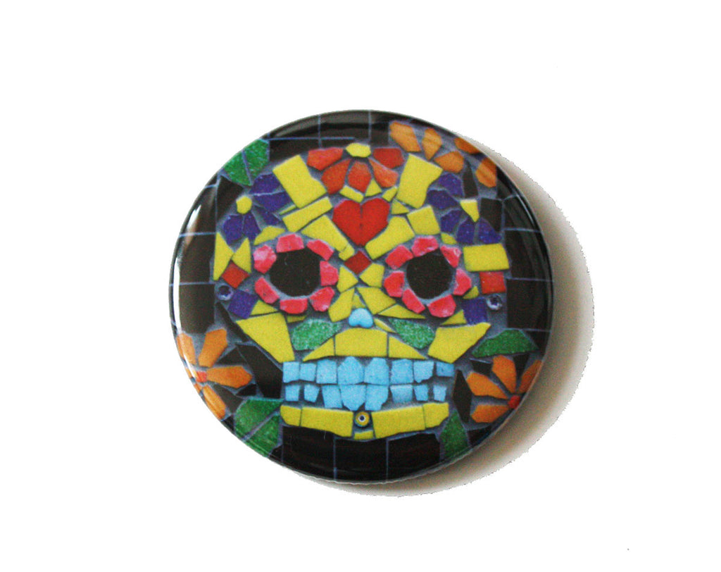 Candy Skull Pocket Mirror