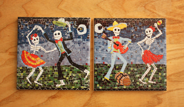 Day of the Dead Coaster Set - The Merry Party