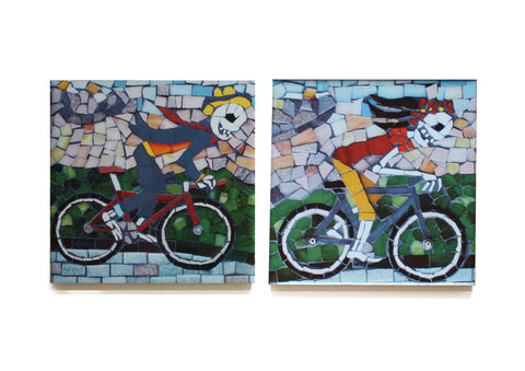 The Summer Cyclists Coaster Set