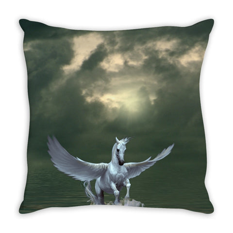 Horse & Pegasus lovers trow pillow -Unique & not found in stores.