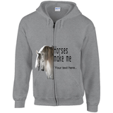 Create a Custom Horse Lover Hoodie with a Zipper