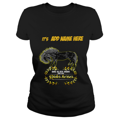 Create a Custom Horse Lover Tshirt for a horse lover Mom