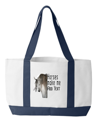 Create a Custom Canvas Tot Bag for a Horse Lover - Can't Be Found Elsewhere!