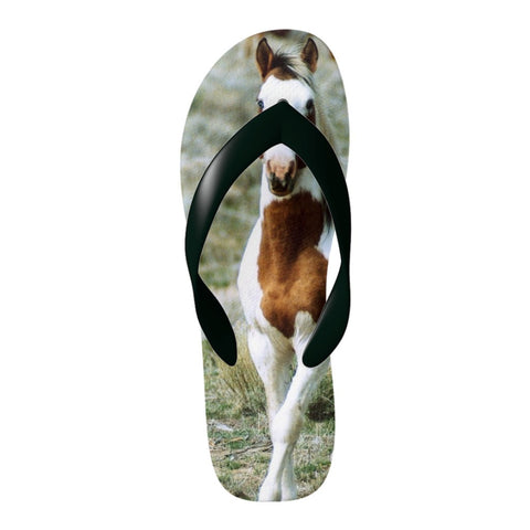 Love  horse? Flip Flop's with a horse image - Unique & not found in stores!