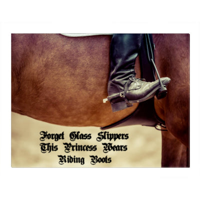 """Forget slippers, this Princess wears riding boot"" Horse Canvas Wall Art -Unique & not found in stores.""Horse Canvas Wall Art -Unique & not found in stores."