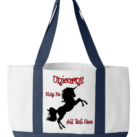 Create a Custom Canvas Tot Bag for a Horse & Unicorn Lover
