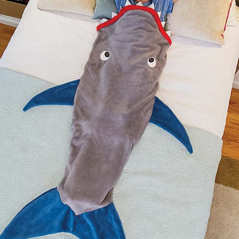 Kids Shark Shaped Sleeping Bag -