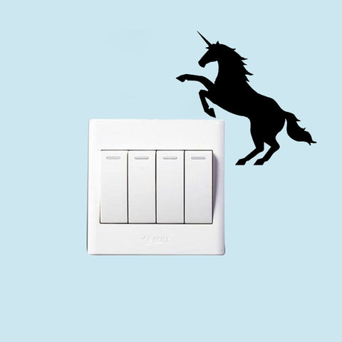 Magical Unicorn Horse Switch Panel Sticker