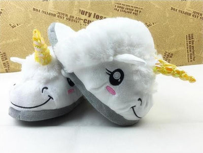 Unicorn Plush Indoor Slippers